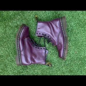 Vintage Dr marten purple leather 1460w boots sz 10